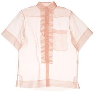 Lee Mathews ruffle trim shirt
