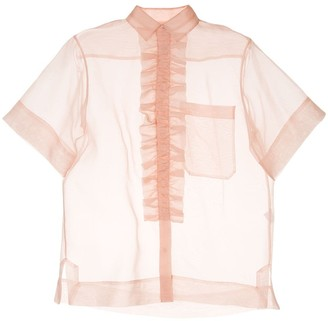 Lee Mathews Ruffle Trim Shirt