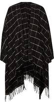 French Connection Windowpane Cape, Black/White