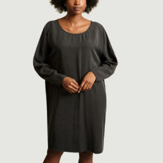 American Vintage Anthracite Lyocell Nalastate Dress - small   anthracite