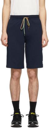 Paul Smith Navy Cotton Jersey Shorts