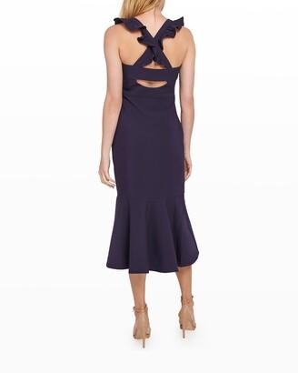 LIKELY Hara Sleeveless Flounce-Hem Midi Dress