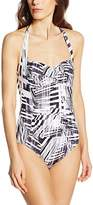 Moontide Women's Cybertron Twist Striped Swimsuit