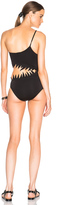 ADRIANA DEGREAS One Shoulder Shark Swimsuit