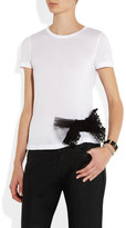 RED Valentino Bow-embellished jersey T-shirt
