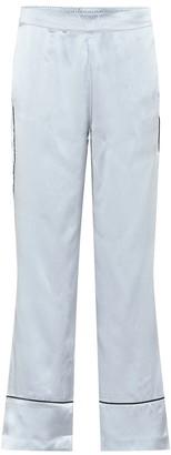 ASCENO Silk satin pajama pants
