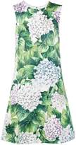 Dolce & Gabbana sleeveless hydrangea print dress