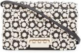 Zac Posen flower embellished crossbody bag - women - Calf Leather - One Size