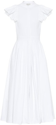 Alexander McQueen Cotton midi dress
