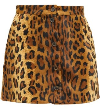 BLAZÉ MILANO Be Fear Appaloosa Leopard-print Mini Skirt - Leopard