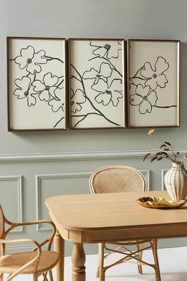 Soicher Marin Susan Hable For Dogwood Triptych Wall Art