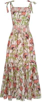 Tory Burch Cotton Floral Maxi Dress