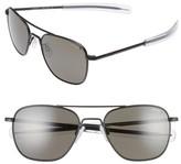 Randolph Engineering Men's 55Mm Polarized Aviator Sunglasses - Matte Black