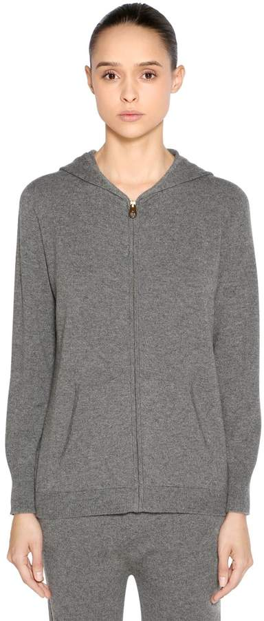 Agnona Hooded Zip-Up Cashmere Sweater