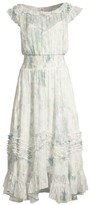 Rebecca Taylor Lily Smocked Midi Dress