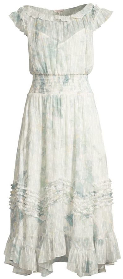 Rebecca Taylor Lily Smocked Midi Dress
