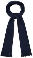 J By Jasper Conran Dark Blue Pure Merino Wool Scarf