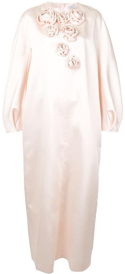 Dice Kayek Asymmetric Roses Maxi Dress