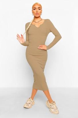 boohoo Front Pocket Midaxi Dress