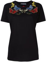 Alexander McQueen embroidered butterfly T-shirt - women - Cotton/Polyester/glass - 38