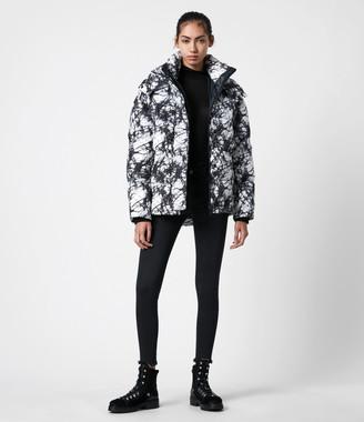 AllSaints Wren Tie Dye Puffer Coat
