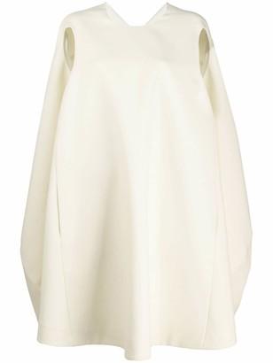 Nina Ricci Puff Cape Dress