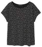 Violeta BY MANGO Cotton polka dot t-shirt