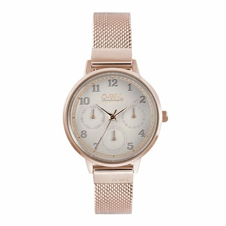 OWL Women's Analogue Japanese Quartz Watch with Stainless Steel Strap H8MRM