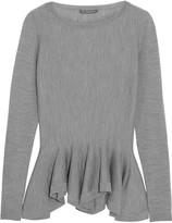 Alexander McQueen Merino wool peplum sweater