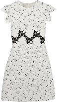 Giambattista Valli Embroidered Tweed Mini Dress - White