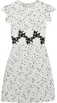 Giambattista Valli Embroidered Tweed Mini Dress - White
