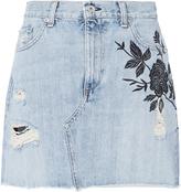 Rag & Bone Ramona Embroidered Mini Skirt