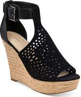 Marc Fisher Hasina T-Strap Platform Wedge Sandals Women's Shoes