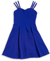Sally Miller Girls 7-16 Pleated Fit-and-Flare Dress