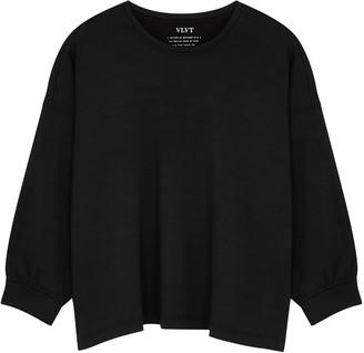 Velvet by Graham & Spencer Rumer Black Jersey Sweatshirt