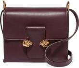 Alexander McQueen Twin Skull Leather Shoulder Bag - Grape