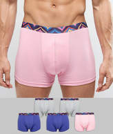 Asos Trunks With Aztec Waistband 5 Pack Save