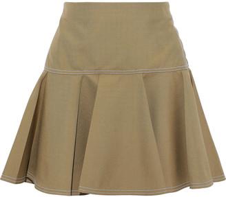 Chloé Flared Woven Mini Skirt