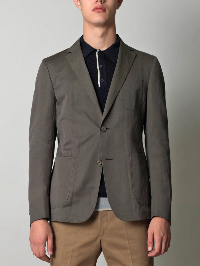 Z Zegna Single-breasted cotton jacket