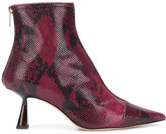 Jimmy Choo Kix 65 snake print ankle boots