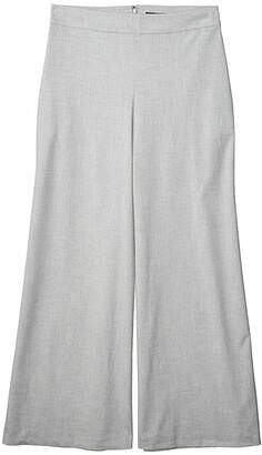 BCBGMAXAZRIA Wide Leg Pants (Light Heather Grey) Women's Casual Pants