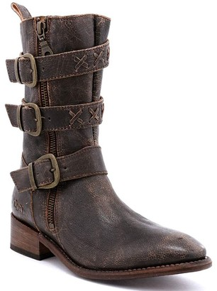 Bed Stu Dual Zipper Leather Boots - Blanchett