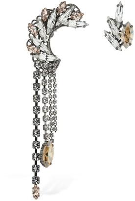 Anton Heunis Omega Asymmetric Clasp Earrings