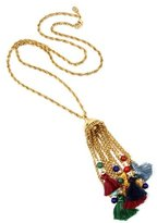 Ben-Amun Moroccan Coin Tassel Necklace with Pom Pom