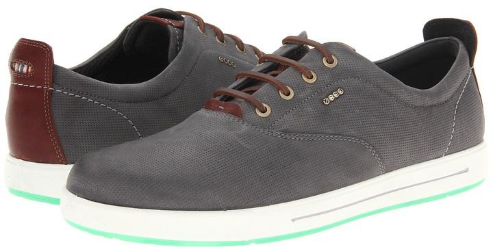 Ecco Androw Retro Sneaker (Dark Shadow/Rust) - Footwear