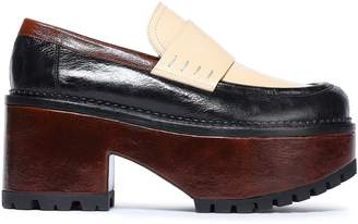 Marni Color-block Leather Platform Loafers