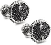 Konstantino Men's Silver and Spinel Cufflinks