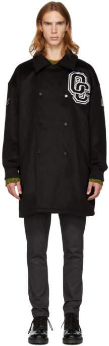 Opening Ceremony Black Double-Breasted Varsity Coat