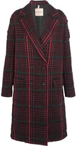Tod's Houndstooth Bouclé Coat - Red