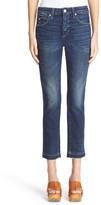 Amo Women's 'Babe' Released Hem Crop Jeans